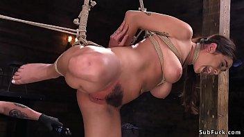 coed submissive interracial Dildo enters her anus